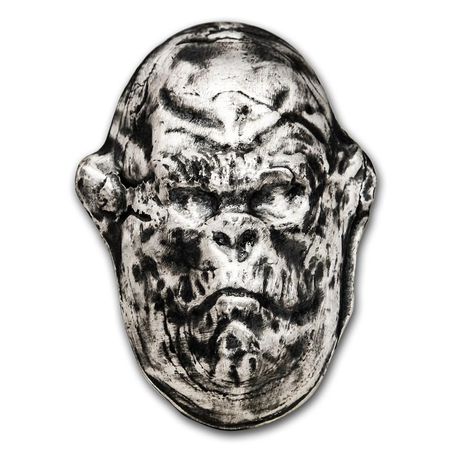 5 oz Silver - MK Barz & Bullion (3D Gorilla)
