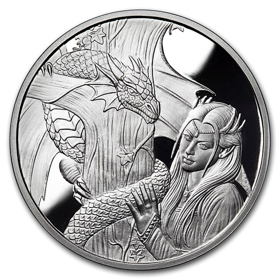 5 oz Silver Proof Round - Anne Stokes Dragon: Kindred Spirits #10