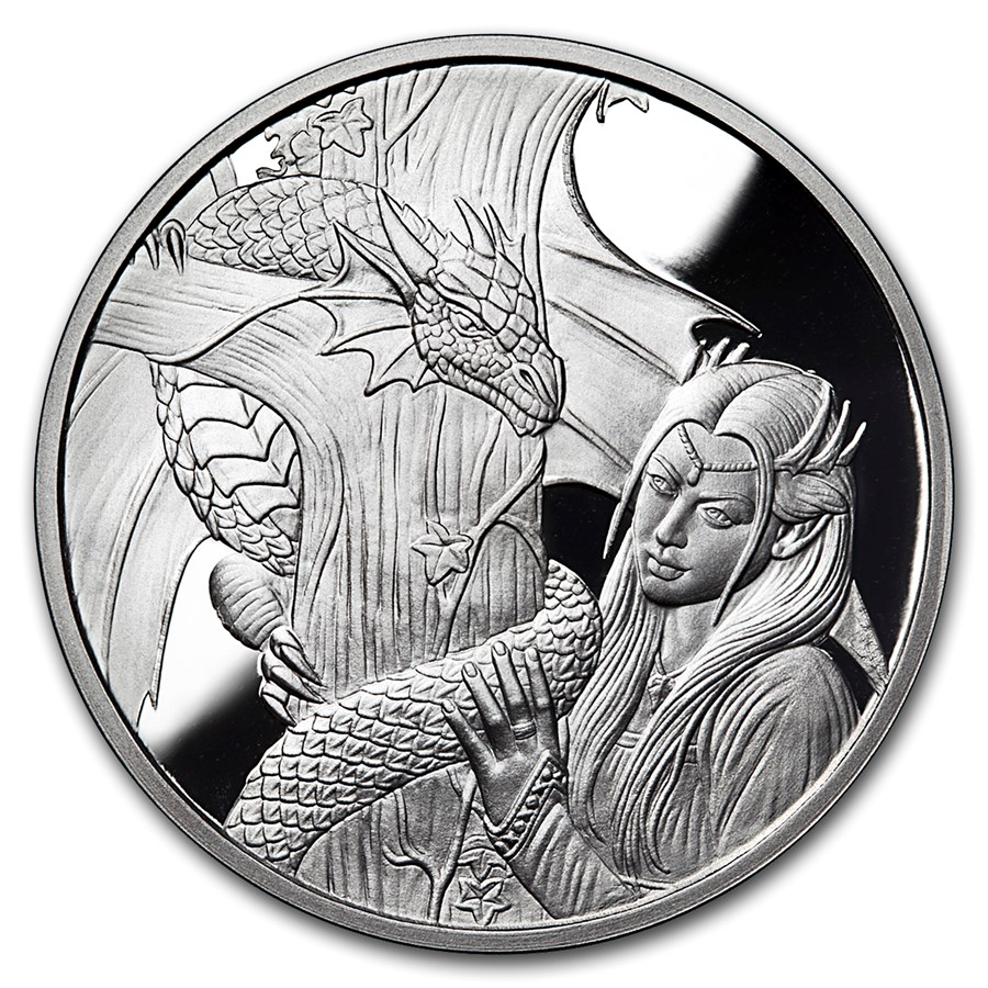 5 oz Silver Proof Round - Anne Stokes Dragons: Kindred Spirits #4