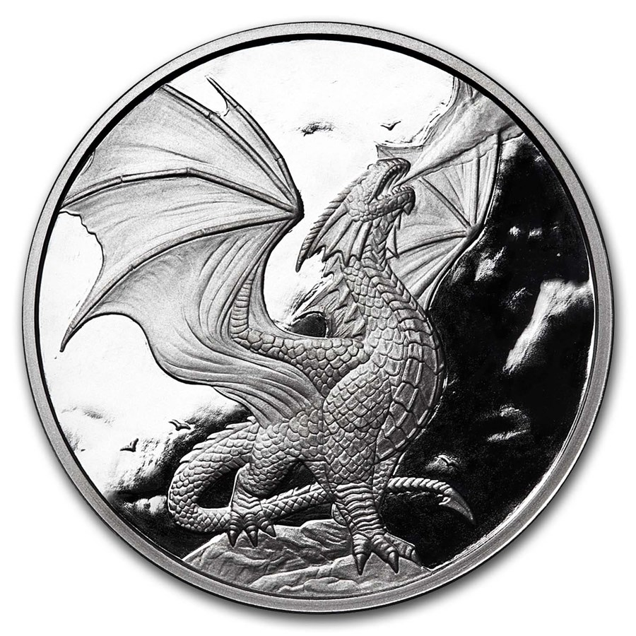 5 oz Silver Proof Round - Anne Stokes Dragons Noble Dragon