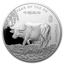 5 oz Silver Round - APMEX (2021 Year of the Ox)