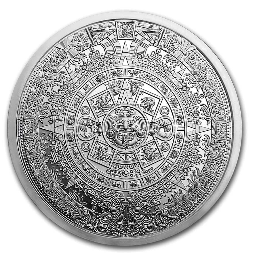 5 oz Silver Round - Aztec Calendar