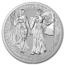 5 oz Silver Round - Germania Allegories 2019 BU (Columbia)