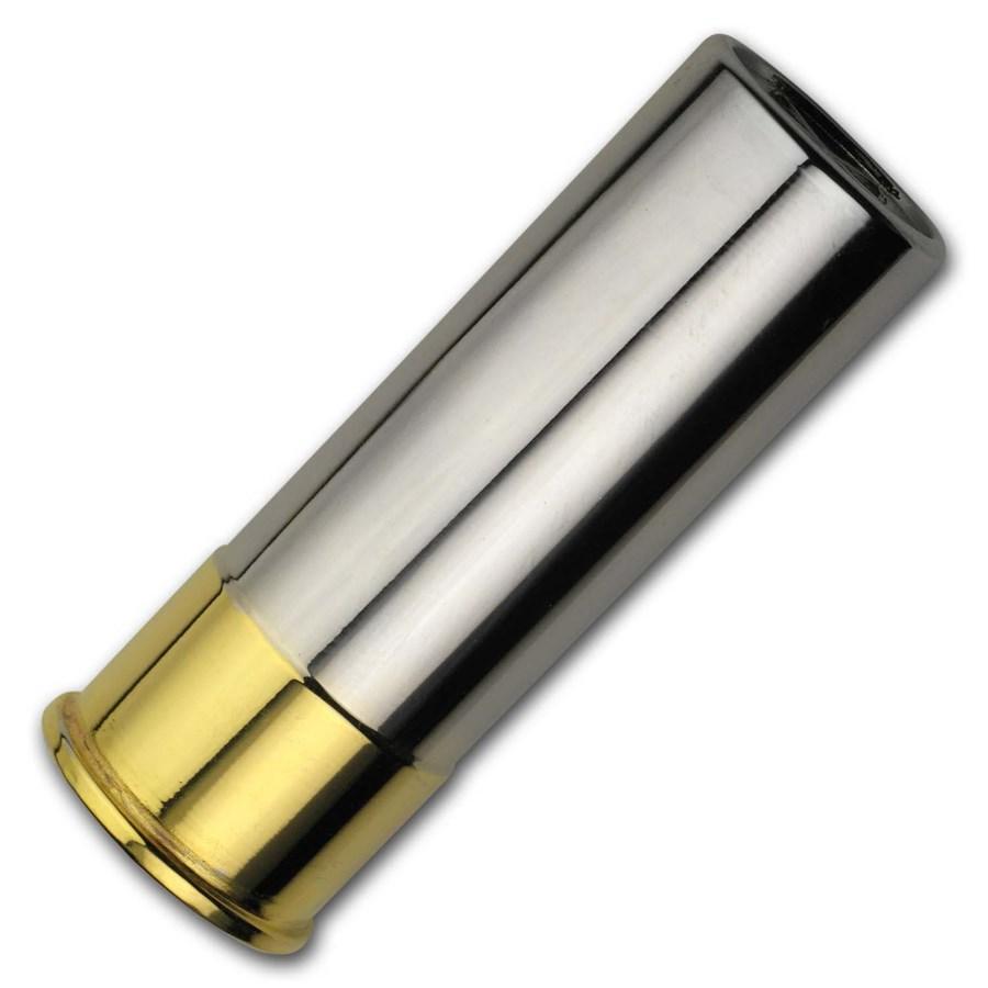5 oz Silver Shell - 12 Gauge (Gold & Rhodium Gilded)