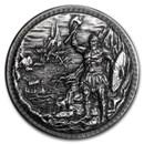 5 oz Silver Ultra High Relief Round - Dragon vs Vikings (w/Box)