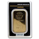 50 gram Gold Bar - Argor-Heraeus KineBar Design (In Assay)