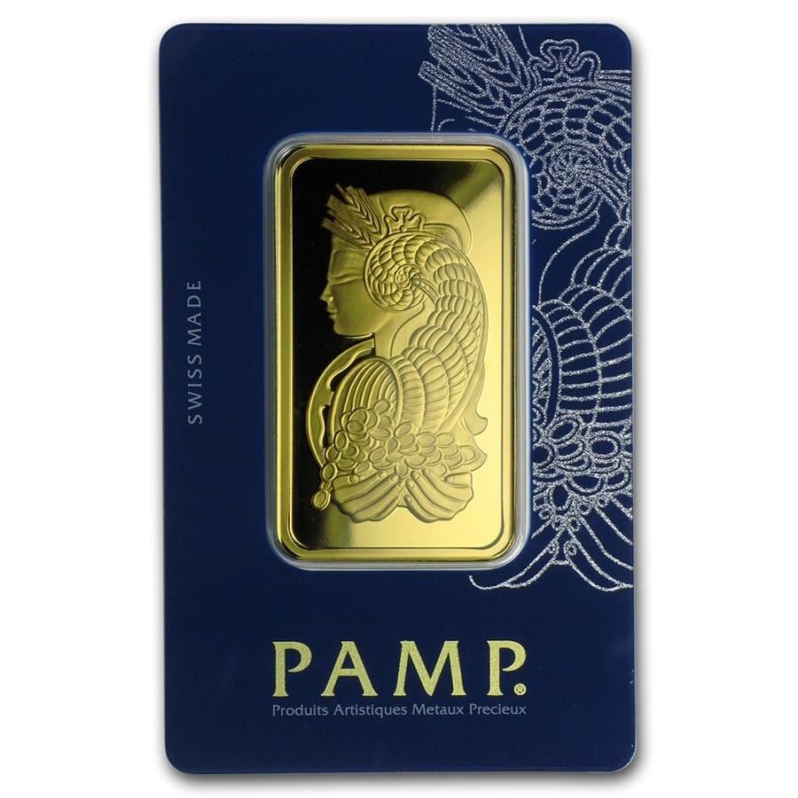 50 gram Gold Bar - PAMP Suisse Fortuna Veriscan (In Assay)