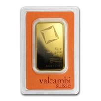 50 gram Gold Bar - Valcambi (Pressed w/Assay)