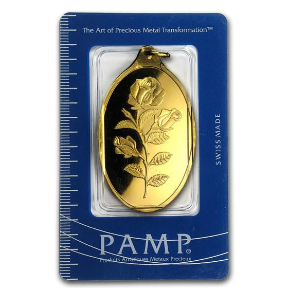 50 gram Gold Pendant - PAMP Suisse (Rose, Oval)