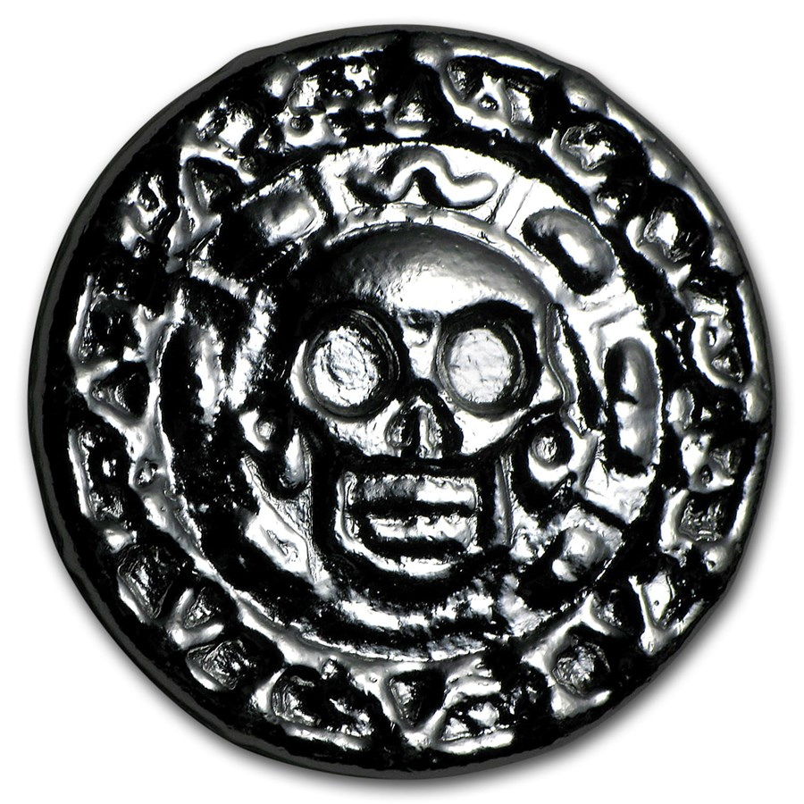50 gram Hand Poured Silver Round - Plata Muerta