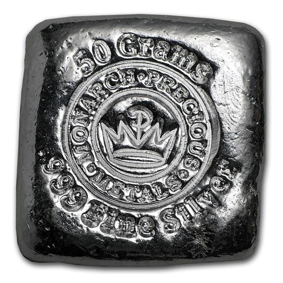 50 gram Hand Poured Silver Square - MPM