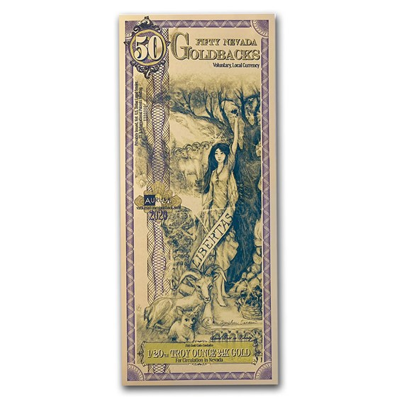 50 Nevada Goldback - Aurum Gold Foil Note (24k)