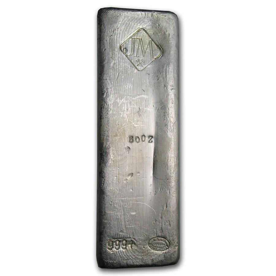 50 oz Silver Bar - Johnson Matthey (Canada, Vintage)