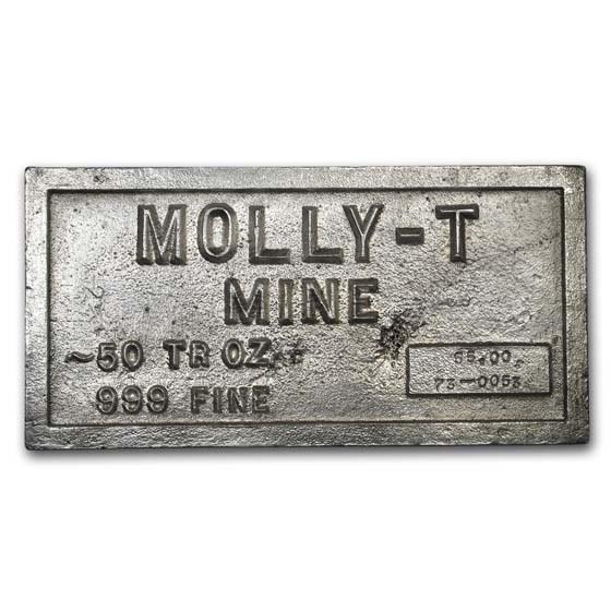 50 oz Silver Bar - Molly-T Mine