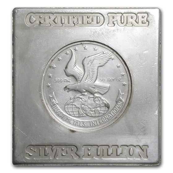 50 oz Silver Cube - Silver Metals International