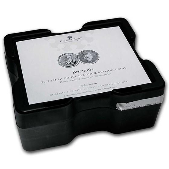500-Coin 1/10 oz Platinum Britannia Monster Box (Empty, Black)