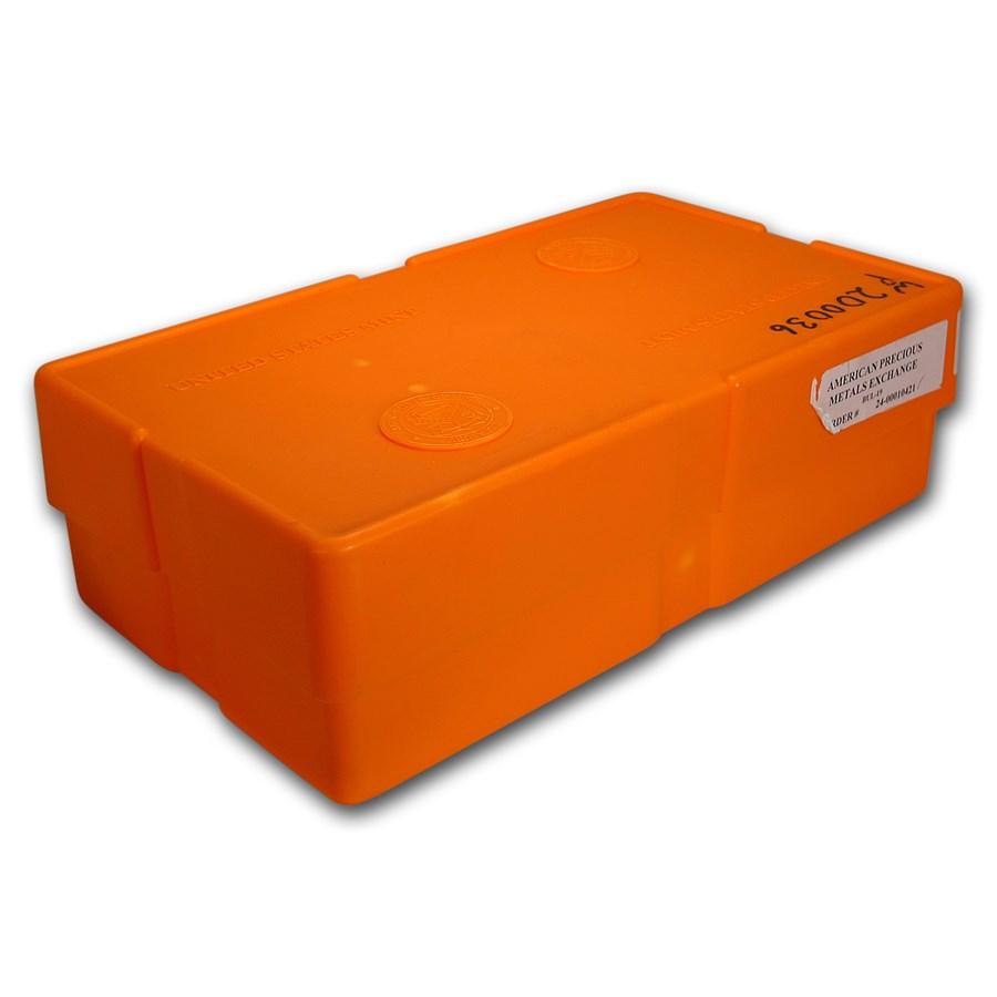 500-Coin 1 oz Gold American Buffalo Monster Box (Empty, Orange)