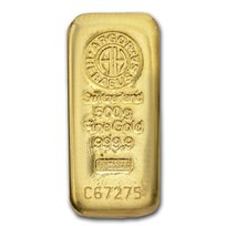 500 gram Gold Bar - Argor-Heraeus (Cast)