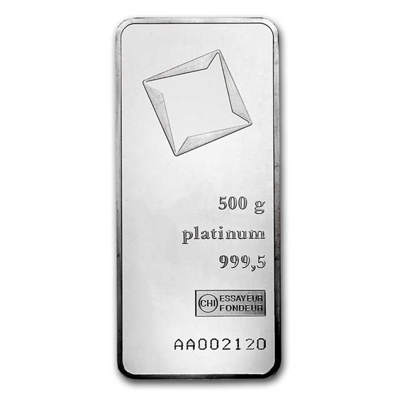 500 gram Platinum Bar - Secondary Market