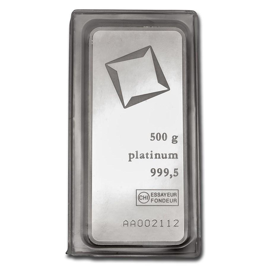 500 gram Platinum Bar - Valcambi (w/Assay)