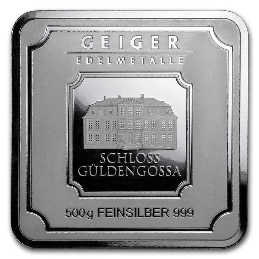 500 gram Silver Bar - Geiger Edelmetalle (Original Square Series)