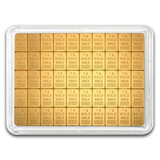 50x 1 gram Gold CombiBar™ - Heimerle & Meule