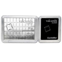 50x 1 gram Platinum CombiBar™ - Valcambi (In Assay)
