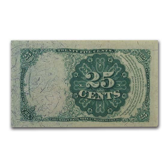 5th Issue Fractional Currency 25 Cents CU-63 EPQ PMG (Fr#1309)