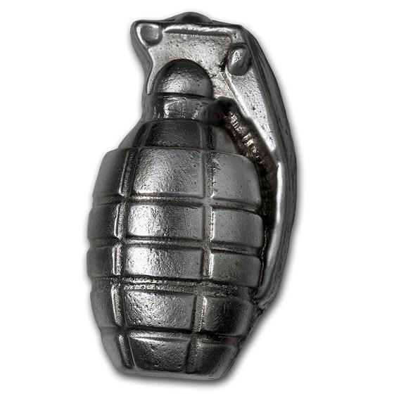 6 oz Hand Poured Silver Grenade - Big Boom!