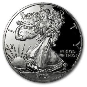 6 oz Silver Round - Silver Eagle (Random Year)