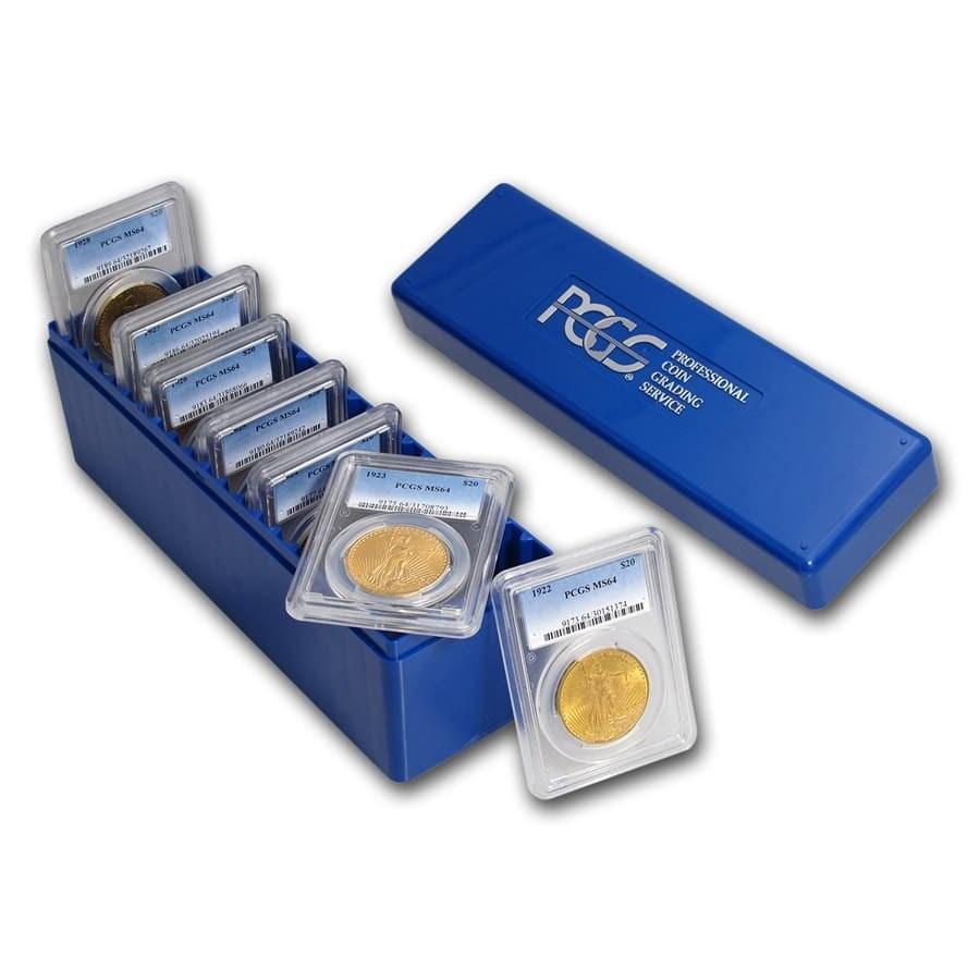 7-Coin $20 Saint-Gaudens Gold Double Eagle Date Set MS-64 PCGS