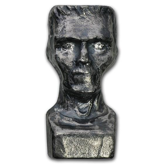 7 oz Silver - MK Barz & Bullion (3D Frankenstein)