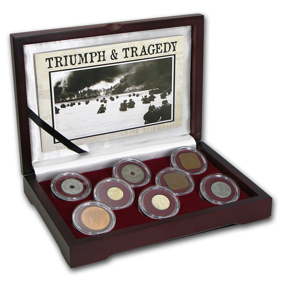 8-Coin Collection Triumph & Tragedy WWII Pacific Theater