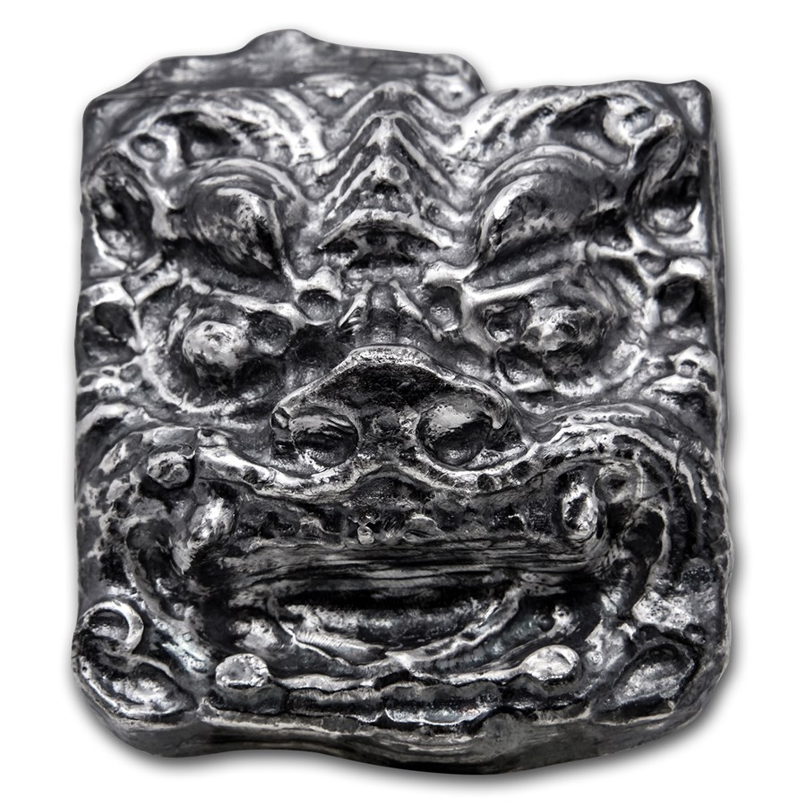 8 oz Silver - MK Barz Bullion (3D Chinese Dragon)