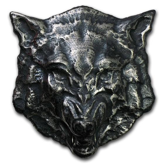 8 oz Silver - MK Barz & Bullion (3D Wolf)