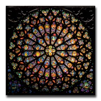 80 grams Silver The Rose Window of Notre Dame in Paris