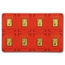 8x1 gram Gold Bar PAMP Suisse Lunar Dog Multigram+8 (In Assay)