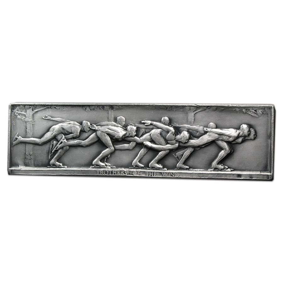 9.34 oz Silver Bar - Brothers of the Wind (Medallic Art Bar)