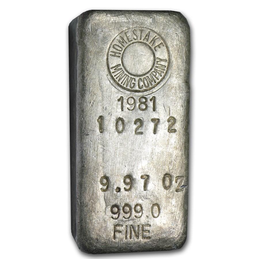 9.97 oz Silver Bar - Homestake Mining Company
