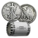 90% 1916-1929 Silver Walking Liberty Halves $10 20-Coin Roll