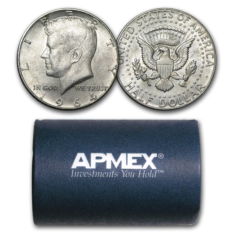 2010 P/&D BU Kennedy Half Dollars from US Mint Roll    Item #1860