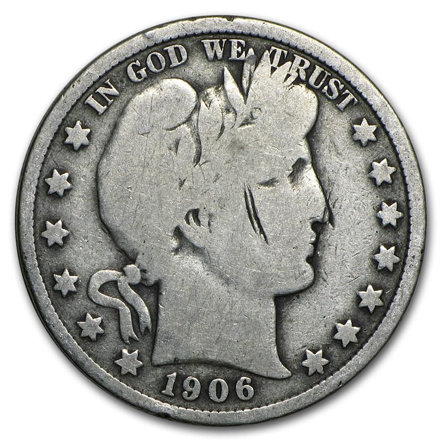 90% Silver Barber Halves $10 20-Coin Roll Good/Better