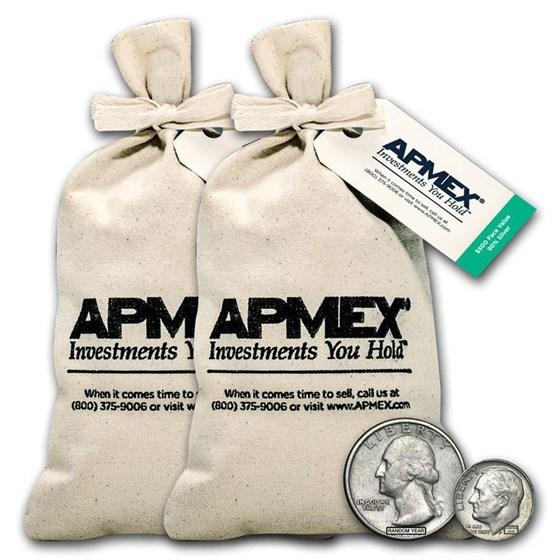 90% Silver Coins - $1,000 Face Value Bag