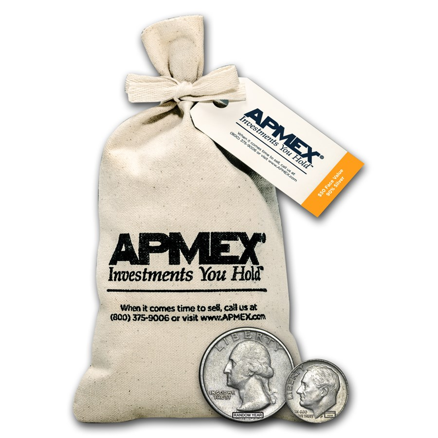 90% Silver Coins - $50 Face Value Bag