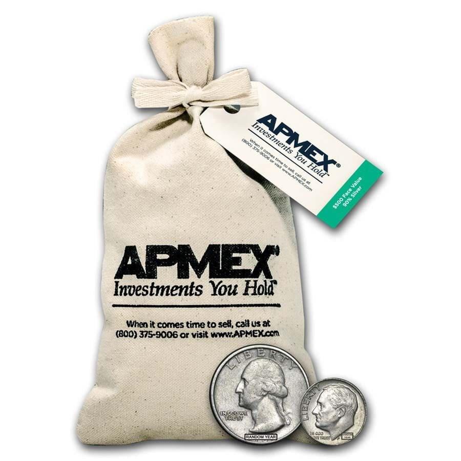 90% Silver Coins - $500 Face Value Bag