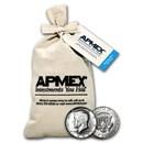 90% Silver Kennedy Half-Dollars $100 Face Value Bag BU (1964)