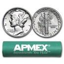 90% Silver Mercury Dime 50-Coin Roll AU