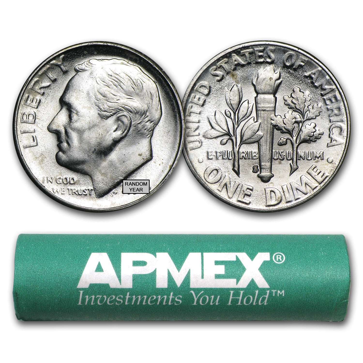 50 COIN ROLL 2019 D ROOSEVELT DIMES $5 // all from bank rolls AU condition