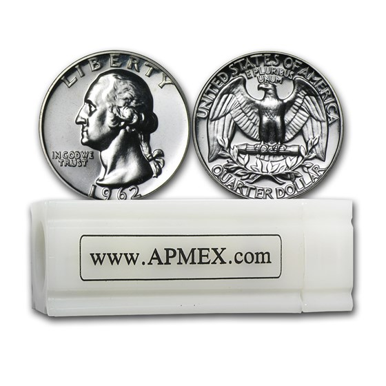90% Silver Washington Quarters 40-Coin Roll Proof
