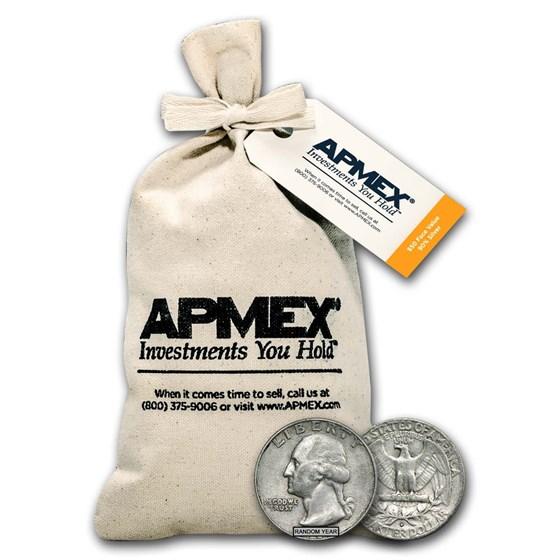 90% Silver Washington Quarters $50 Face Value Bag